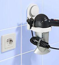 Fönhalter ohne Bohren Saugnapf Wandhalter Fönhalterung Ablage Haartrocknerhalter