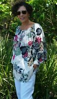 NWT Paper Fig Boho Top Floral PLUS SIZE 3/4 sleeve 12,14,16,18,20,22,24,26+