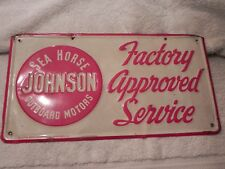 Vintage Original Johnson Sea Horse Outboard 1950's Factory Approved Service NICE