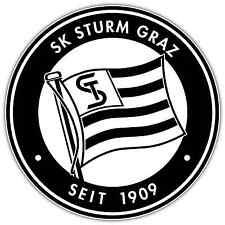 "SK Sturm Graz Austria Football Soccer Car Bumper Sticker Decal 4.6""X4.6"""