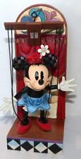 Jim Shore Figurine MINNIE MOUSE MARIONETTE FIGURINE & STAND Disney Enesco