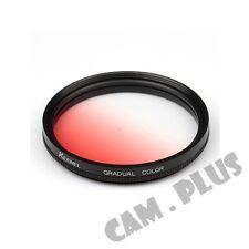 52mm Diameter Optical Gradual Red Lens Filter For Canon Nikon Olympus Sony