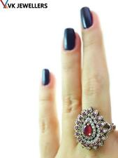 STERLING 925 SILVER SIZE 8 RING TURKISH OTTOMAN HANDMADE VICTORIAN JEWELRY R2230