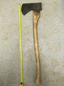 Vintage Elwell  forged steel wednesbury forge No 7 felling  Axe
