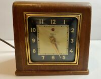TELECHRON Electric Clock Model 3H151 Made In USA Vintage 1948 Tested & Works