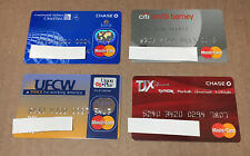 4 Expired Credit Cards For Collectors - Master Card Lot (9120)