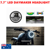 """7.7"""" H4 LED halo headlight daymaker cafe racer bobber project custom BMW Harley"""