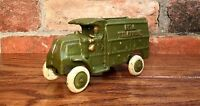 Cast Iron Bell Telephone Vintage-Style Green Truck Toy