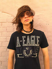 AMERICAN EAGLE OUTFITTERS Black 100% Cotton Size XS T-Shirt