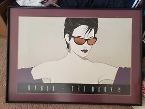 SUPER RARE Framed 1983 Patrick Nagel GOLD Sunglasses NAGEL THE BOOK  16x24