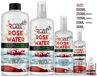 Rose Water Hydrosol Spray 100% Natural & Organic Facial Skin Toner Moisturiser
