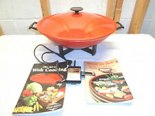 WEST BEND 6 Qt. Nonstick Electric Wok~Model 79506X~Books