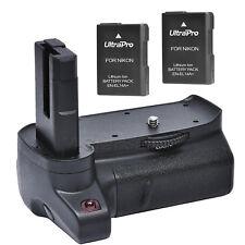 Battery Grip for Nikon D3400 + 2x EN-EL14a Replacement Batteries