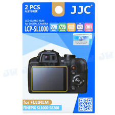 JJC 2pc LCD Guard Film Camera Screen Protector For Fujifilm Finepix SL1000 S8200
