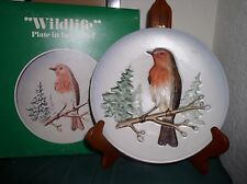 Goebel Plate In Bas Relief, Robin, 1St Edition, Hand Painted Wildlife, With Box