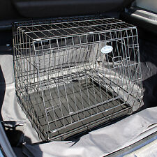 "Small 24"" Sloping Folding Car Dog Puppy Pet Crate Hatchback Cage Travel 571"