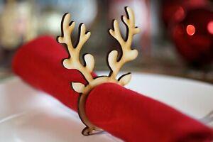 Christmas napkin rings New Design 2020 Reindeer Antlers Pack of 6 / 8 / 10 / 12