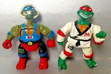 TMNT 1992 Kowa Bunga Kick Boxin Leo + Kung Fu Karate Mike Figures Ninja Turtles