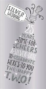 Hallmark 25th Silver Wedding Anniversary Card