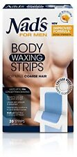 Nad's For Men Body Wax Strips 20's NEW