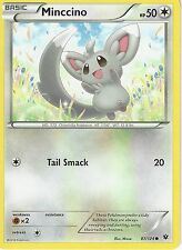 POKEMON XY FATES COLLIDE CARD - MINCCINO 87/124