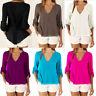 Chiffon Long Sleeve Summer Blouse Loose Women's Shirt V-neck 5XL Tops Casual
