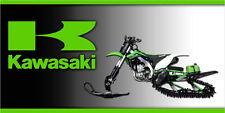 Kawasaki Timbersled Snow Bike Garage Trailer Vinyl  Banner Sign