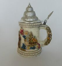 JOHANN GUNTER CANDLE- Walldurn Baden- Faux Stein With Pewter Lid-Vintage-- RARE!