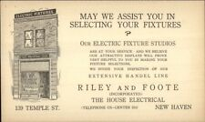 New Haven CT Riley & Foote Electrical Fixtures Studio Store Advert Card