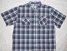 NEW! Ecko Unltd Button Down Shirt Mens 5X 5XL 5XB Blue/White/Orange Plaid NWT!