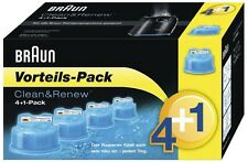 5 x BRAUN CCR Clean and Renew 5 Pack, Cartridge, Refill, Replacement Cleaner