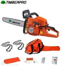 TIMBERPRO Tronçonneuse 58 cm3  guide 50 cm. 3,4 cv 2 chaines + housse transport