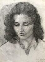 Ulla Haakø Weinert 1897-1967 Portrait junge Frau Kopf Dänemark 1937