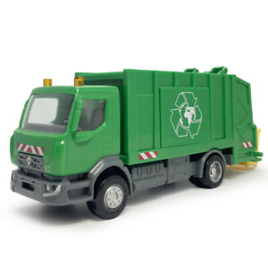 1:43 Renault Garbage Dump Truck Model Plastic Toy Vehicle Collection Kids Gift
