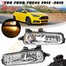 Left&Right Fog Light k For Ford Focus 2015 16 17 2018 Front Bumper Driving Lamps