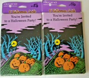 2 Packs Vintage American Greetings Halloween Party Invitations 16 Total Cards