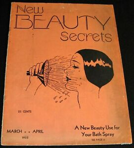NEW BEAUTY SECRETS 1933 RARE MAGAZINE COSMETOLOGY SHOP HAIR DIET DRUGS MAKE-UP
