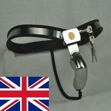 Full Maschile castità Cintura Dispositivo Acciaio Inox Enforcer in nero 16