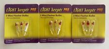 NEW Light Keeper Pro 3 Packs Mini Flasher Bulbs 2.5 Volts