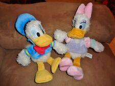 "Disney Donald & Daisy Duck 9"" Stuffed Plush Sailor Fuzzy Disneyland Bean Bags"