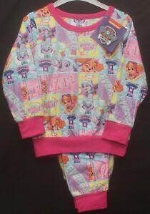 PAW PATROL Fleece Pyjamas / Girls Long-Sleeved Pink Micro Fleece PJs  1-5 years