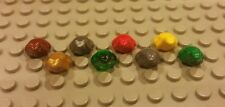 Lego NEW Set/8 Frogs/Toads - Green Red Brown Grey Gold Silver Yellow Trans Green
