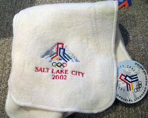 Salt Lake City 2002  Winter Olympic BID fleece scarf Very Rare &  Brand new tags