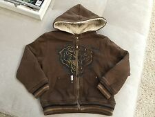 Baby Boy Brown Warm Sweatshirt Hoodie Jacket Size 3-4T Micros LA