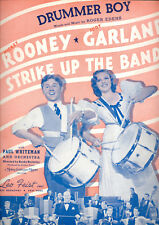 "STRIKE UP THE BAND Sheet Music ""Drummer Boy"" Judy Garland Mickey Rooney"