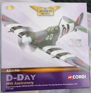 Corgi Aa31906 D-day 60th Anni. Supermarine Spitfire MkVB-40 l. Edt 19212/7100