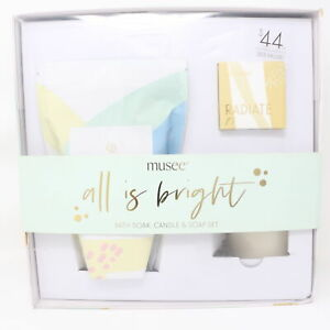 Macy's Musse All Is Bright Bath Soak, Candle & Soap Set  / New With Box