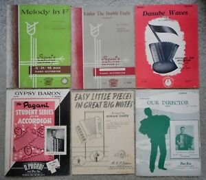 VINTAGE SHEET MUSIC FOR PIANO ACCORDION - SIX PIECES