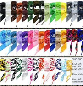 """Fat Shoelaces Thick Flat 3/4"""" Wide Shoelaces Solid Color for All Shoe Types"""