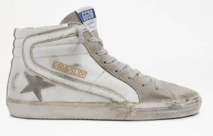 Golden Goose Slide White Leather Suede Upper Women's Sneaker Sizes 5-11 / 35-41